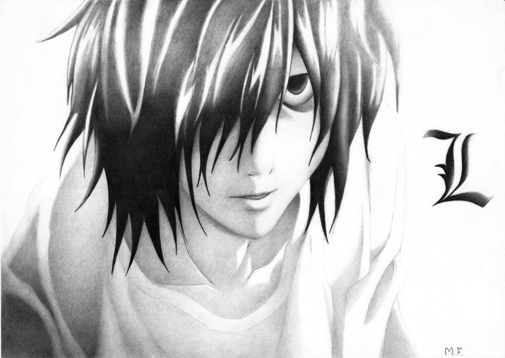 L's Premonition (Death Note) by DesignerMF