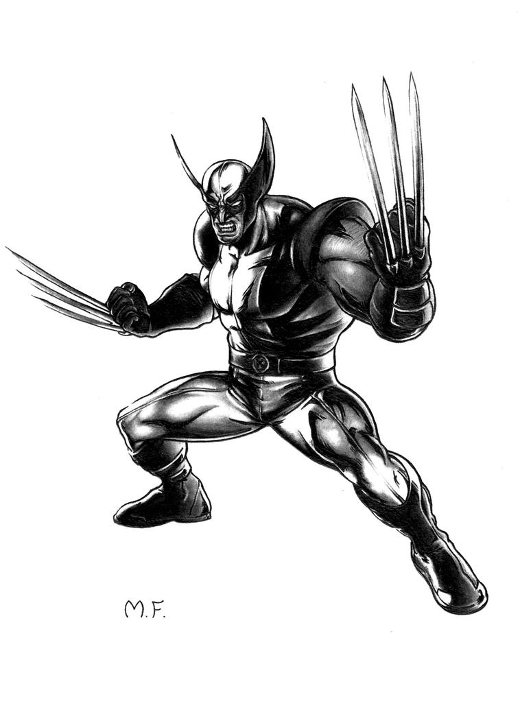 Wolverine (MARVEL) - Scan Drawing by DesignerMF