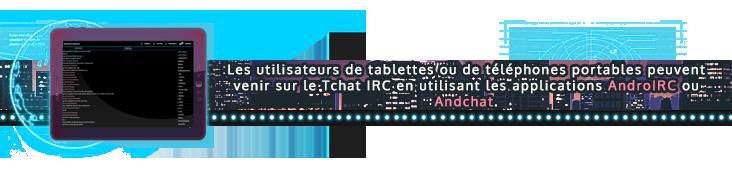 Banner IRC disponible sur mobile