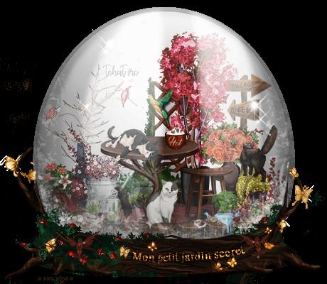SnowGlobe Vintage Garden by tchat-irc-omd