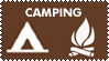 Camping stamp by picturefragments