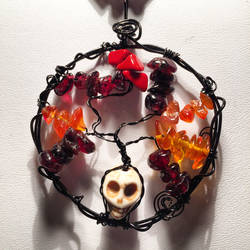 Halloween Tree Pendant by StudioNocturna