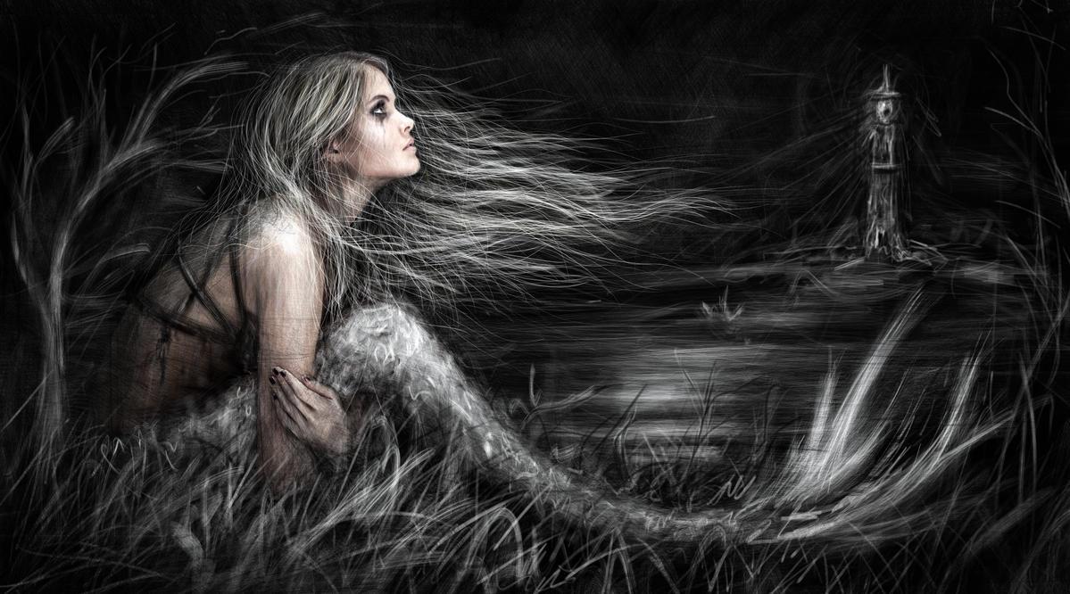 Mermaid at Midnight by JustinGedak