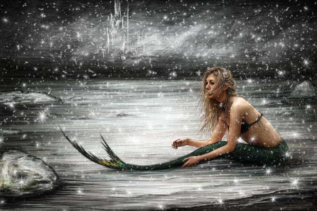 Winter Mermaid by JustinGedak