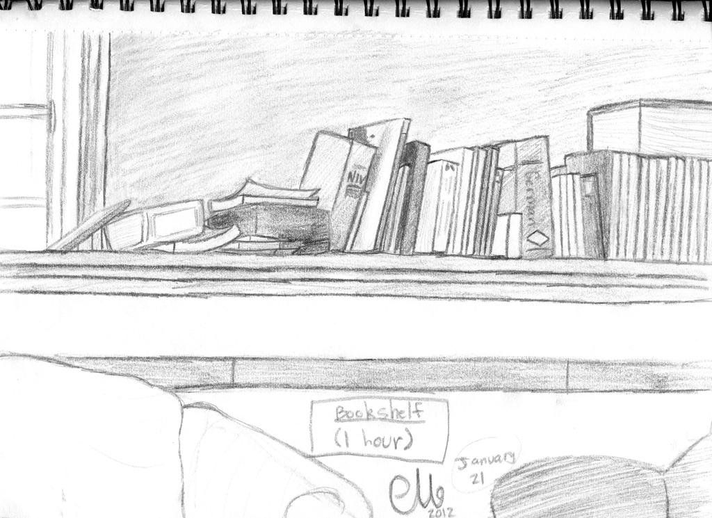 Hour Bookshelf Sketch By Pichulover20 On DeviantArt