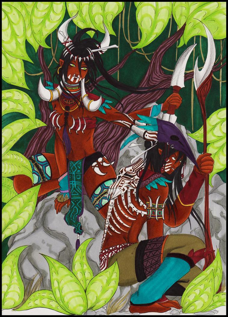 Twins hunters by anays555
