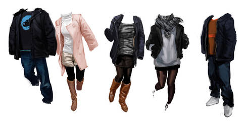 Clothing Studies by Robotpencil