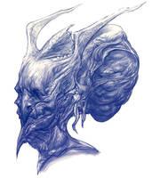 Evil Demon Head by Robotpencil