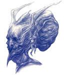 Evil Demon Head