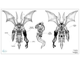 Turnarounds for creature by Robotpencil