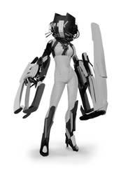 lady bot by Robotpencil