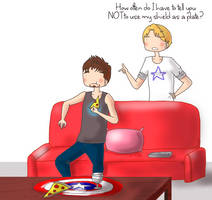 Tony and Steve: Plate by ice-cream-skies