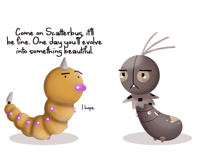 Scatterbug and Weedle by ice-cream-skies