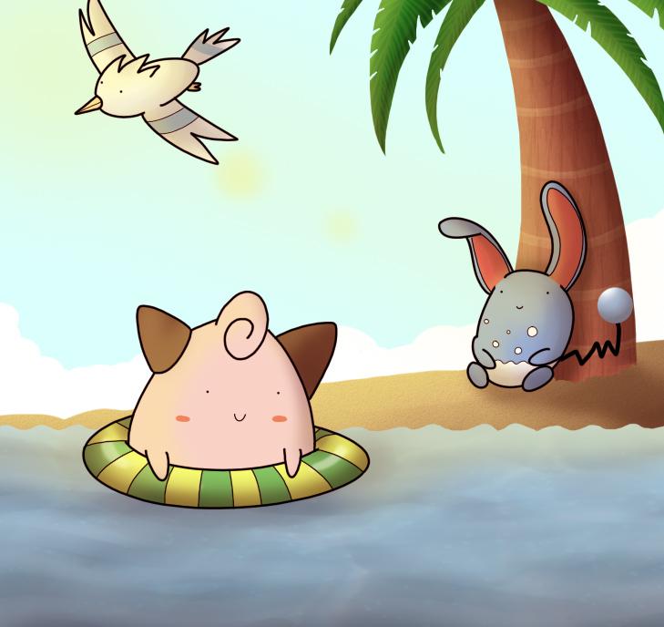 Pokemon Beach by ice-cream-skies on DeviantArt