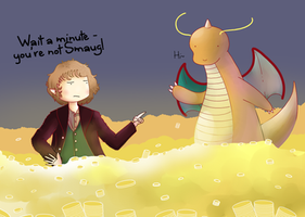 Bilbo and ... Smaug? by ice-cream-skies