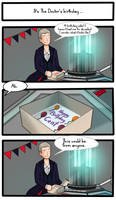 Birthday cake (Doctor Who/The Thick of It)