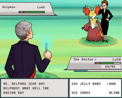 The Doctor VS Ms. Delphox by ice-cream-skies