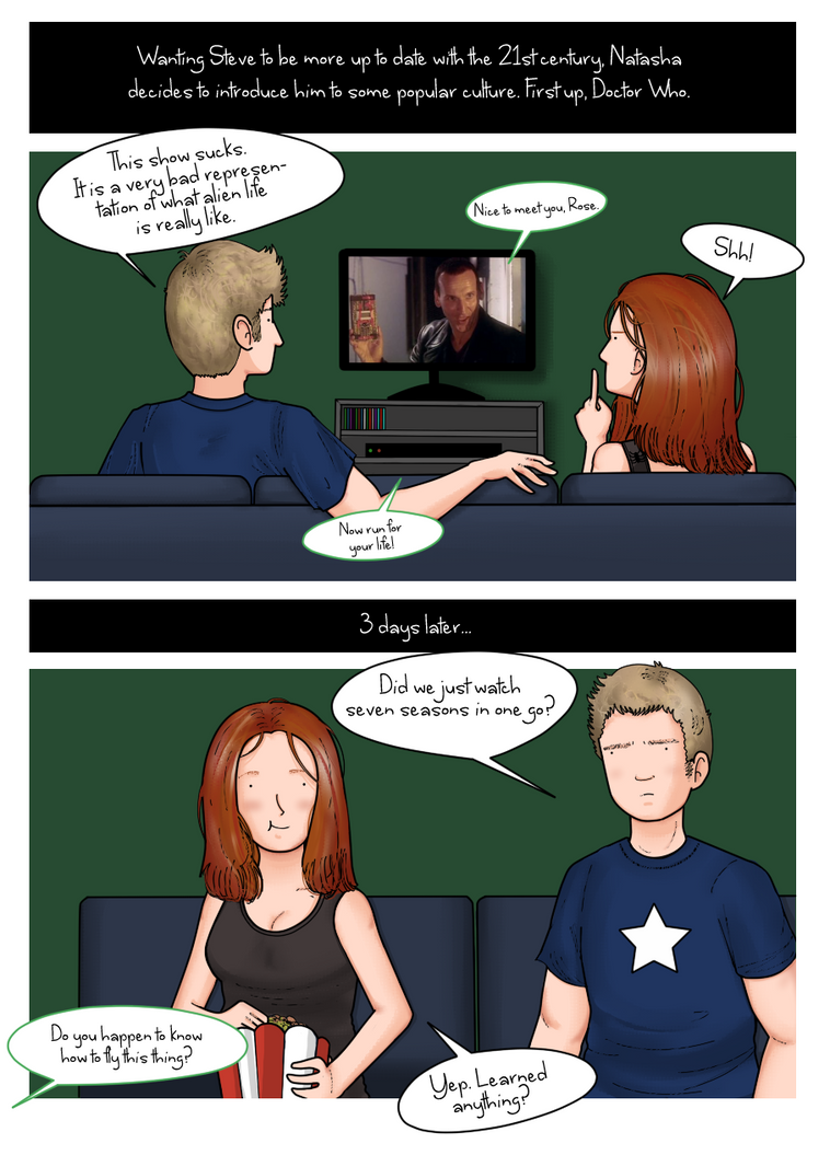 Steve and Natasha watch Doctor Who by ice-cream-skies