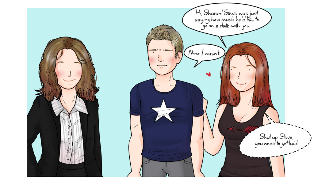 Steve Rogers hits the dating scene (kind of) by ice-cream-skies