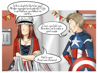 Steve and Natasha: Costume party by ice-cream-skies