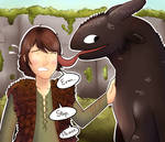 Hiccup and Toothless (request)