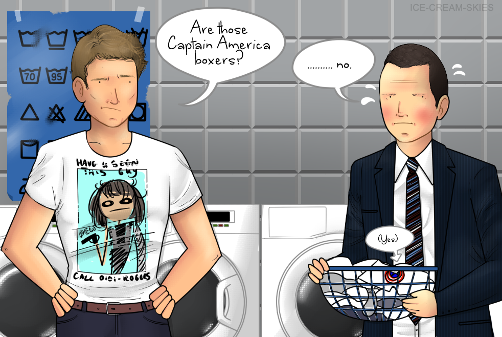 Steve and Coulson meet at the laundromat by ice-cream-skies