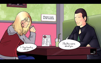 Having coffee with Rose and Nine