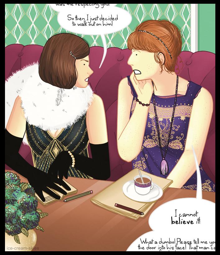 Clara and Donna: Gossip by ice-cream-skies