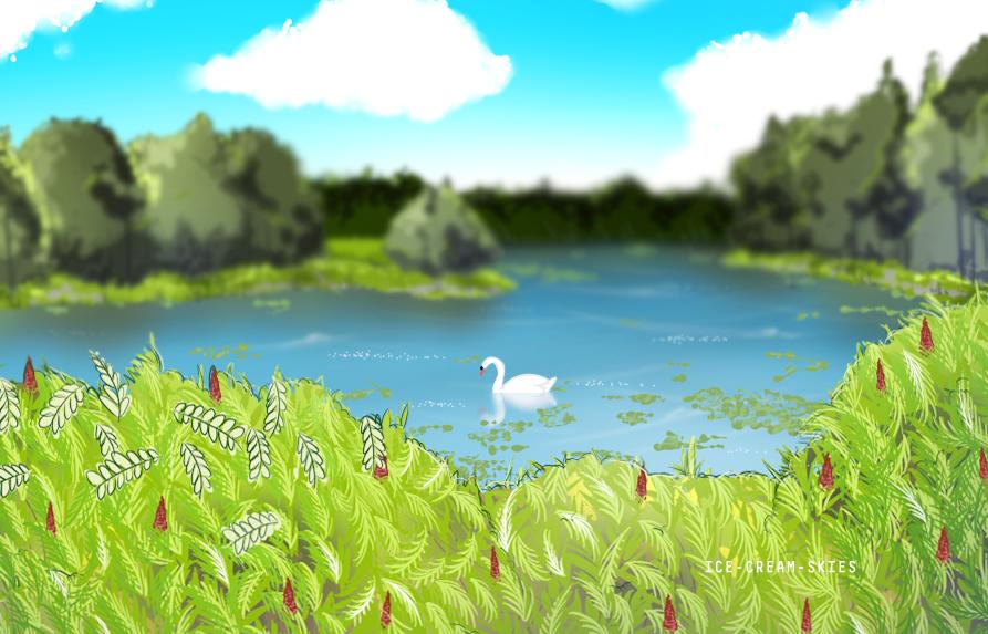 Swan by ice-cream-skies