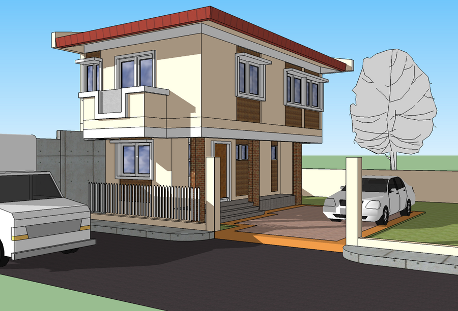 2011 2 storey house design by rjdalmacio on deviantart for Exterior design of 2 storey house