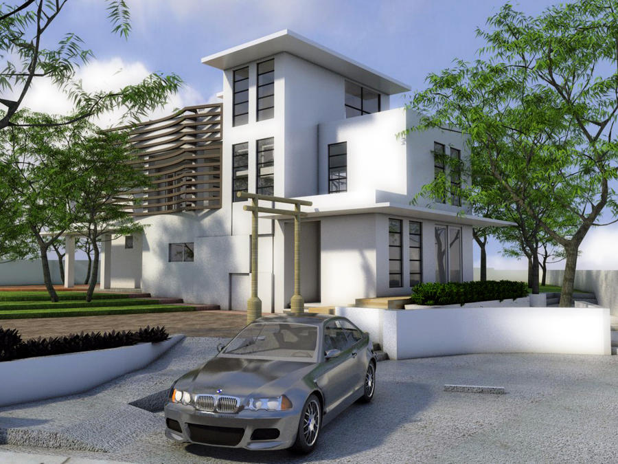 2012 2 storey house w roof deck by rjdalmacio on deviantart for 2 storey house design with roof deck