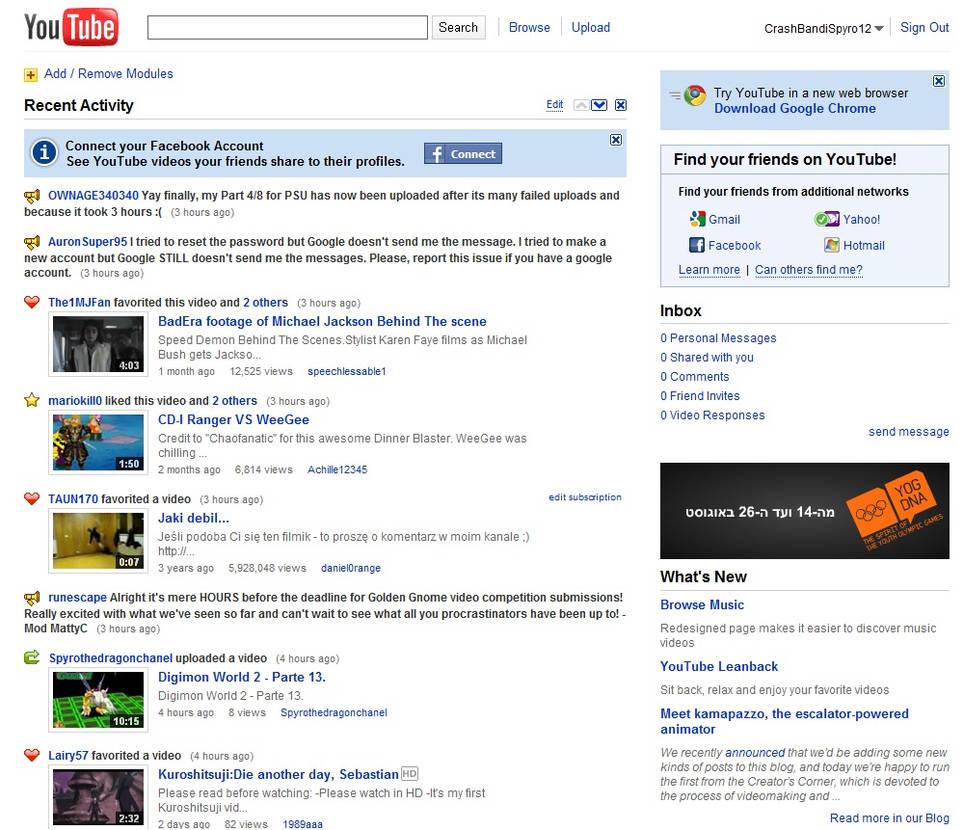 Old Homepage Shot by crashrule1 on DeviantArt