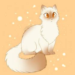 Cream Cat and Orange by Siferian
