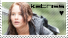 Katniss Everdeen Fan Stamp by Moararishoz