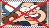 Anti Dipper Pines Stamp by da-stamps-45212