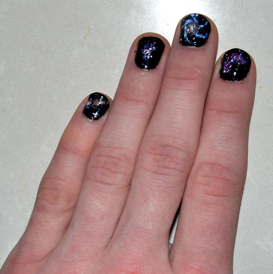 Galaxy Nails Recreation On My Boyfriend Day 31 By