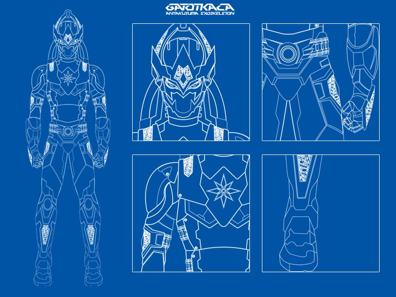Antakusuma Exoskeleton Mark-1 Blueprint By IshaMuhammad On
