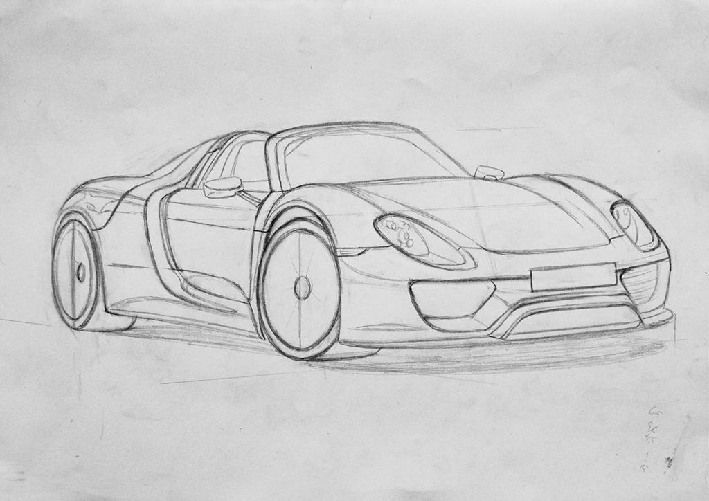 porsche 918 wip 1 by orhano on deviantart. Black Bedroom Furniture Sets. Home Design Ideas