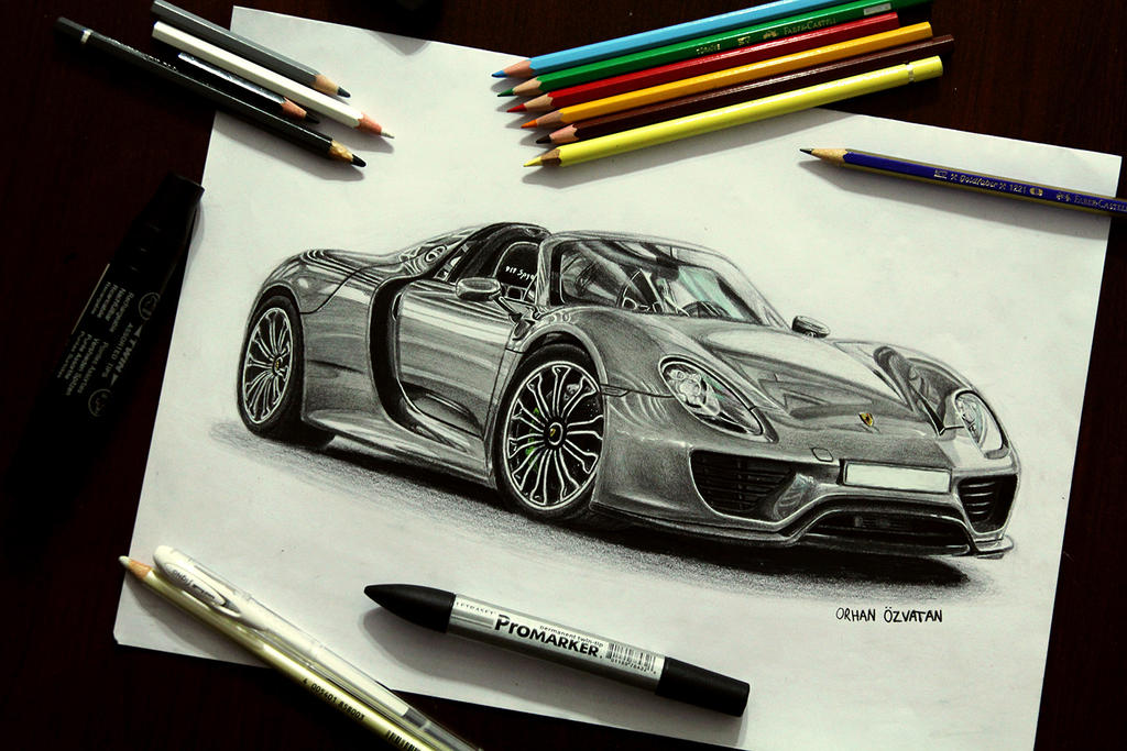 Porsche 918 Drawing by orhano on DeviantArt on porsche boxster drawings, porsche cayenne drawings, hennessey venom gt drawings, porsche macan drawings, sports car drawings, lamborghini drawings, porsche concept drawings, porsche panamera drawings, chevrolet camaro drawings, porsche 962 drawings, nissan gt-r drawings, fiat 500 drawings, bugatti veyron drawings, porsche turbo drawings, porsche carrera drawings, porsche 550 spyder drawings, still life pencil drawings, porsche carrera gt, bmw i8 spyder drawings,