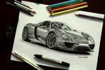 Porsche 918 Drawing