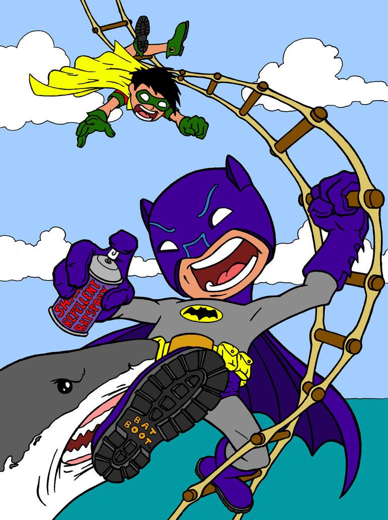 Shark Repellent Bat-Spray by beastgrinder