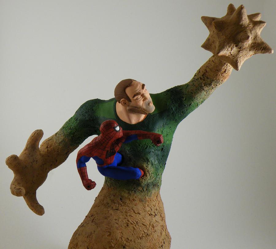 Spider-Man vs. Sandman 2 by beastgrinder