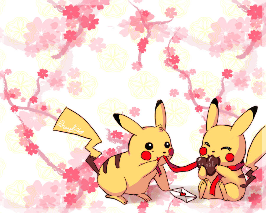 Valentine Lover Pikachu by Eternal-S