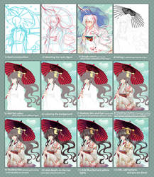 Step by Step: Snow and Umbrella by Eternal-S
