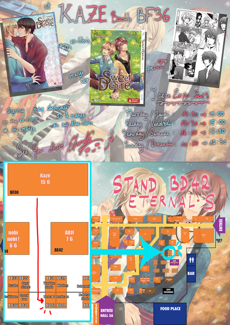 JAPAN EXPO BOOTH AND SIGNING SESSION FOR MY MANGA by Eternal-S