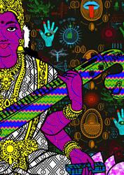 Saraswati by j-ham-art