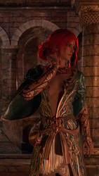 Triss Merigold DLC Outfit Cycles Render by Deluwyrn