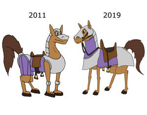 Then and Now: Horse Edition!
