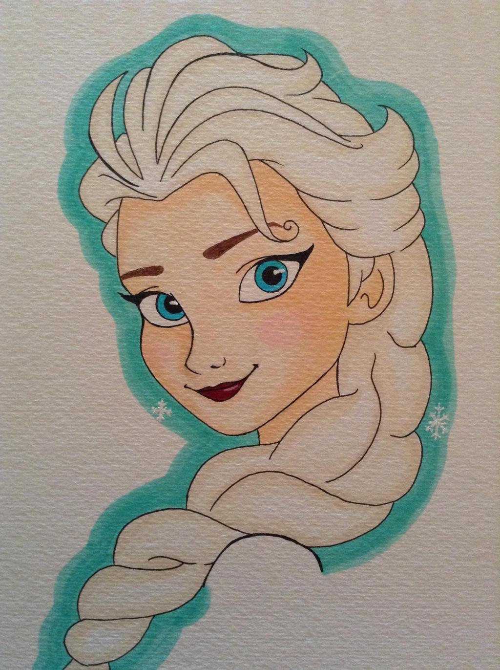 My Elsa work in progress by Greatlygeeky