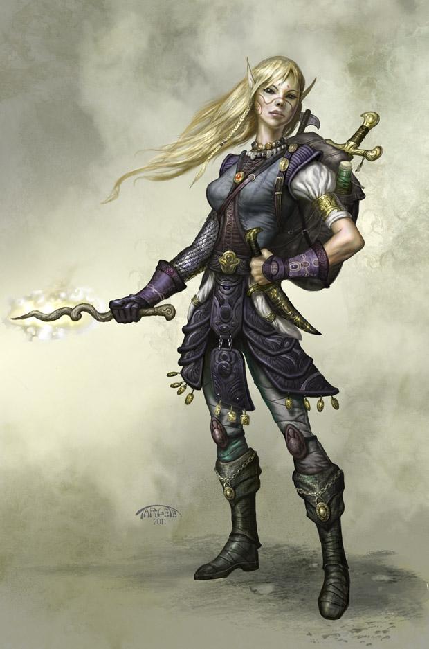 Female Elf Pathfinder by TARGETE